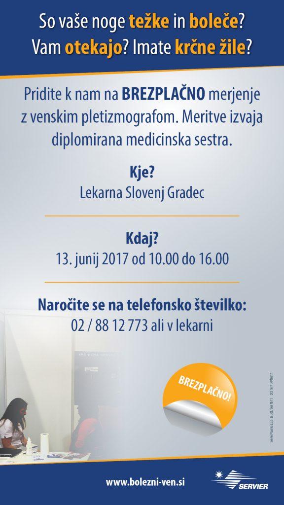 Meritve venskega pretoka v lekarni Slovenj Gradec